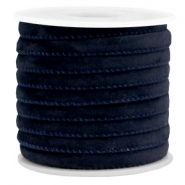 Trendy Velvet Kordel gesteppt 6x4mm Dark blue