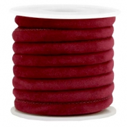 Trendy Velvet Kordel gesteppt 6x4mm Port red
